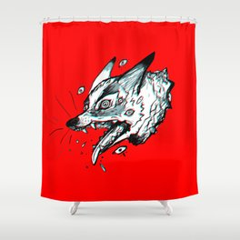 Red Doghead Shower Curtain