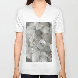 White on White on White Unisex V-Neck