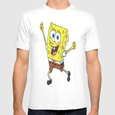 Sponge Bob MEDIUM White Mens Fitted Tee
