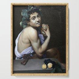 Merisi da Caravaggio - Young Sick Bacchus Serving Tray