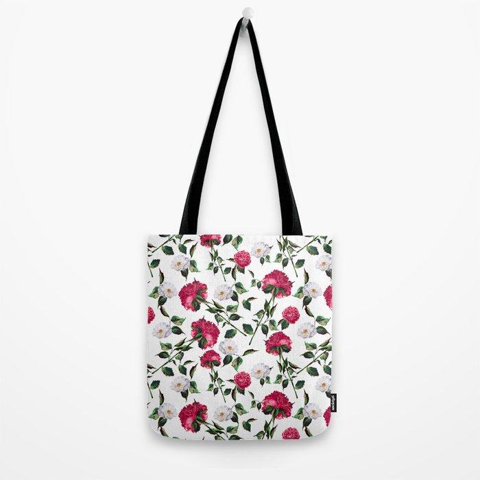 Summer Floral Pattern Tote Bag