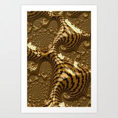 Electric Gold Art Print