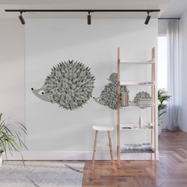 Hedgehogs family Wall Mural