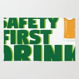 Funny St Patrick's Day Safety First Drink With A Nurse Rug
