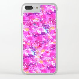 Pink pattern Clear iPhone Case