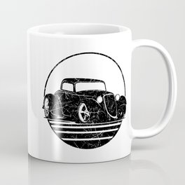 Retro Hot Rod Grungy Sunset Illustration Coffee Mug