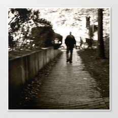 man on path i saw one afternoon Canvas Print
