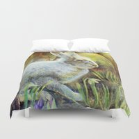 hare Duvet Covers featuring Hare by Natalie Berman