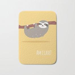 Sloth card - Am I late? Bath Mat