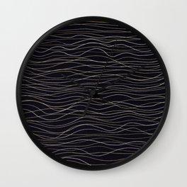 wave-stripe pattern Wall Clock