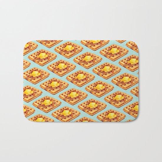 Waffle Pattern Bath Mat
