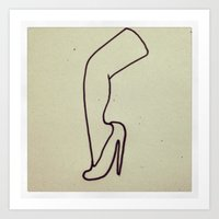 she's got leg Art Print