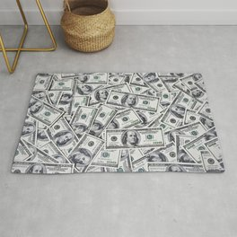 Hundred dollars bills Rug