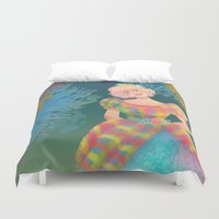 teacher Duvet Covers featuring Juliana by Ind Alonso