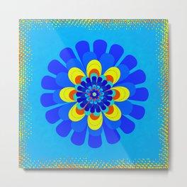 Bloom Blue Metal Print