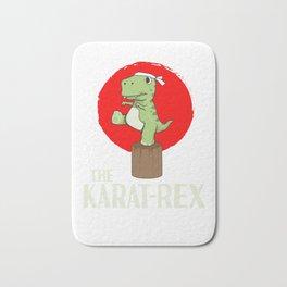 T-Rex Karate Martial Arts Kids Training Gift Bath Mat