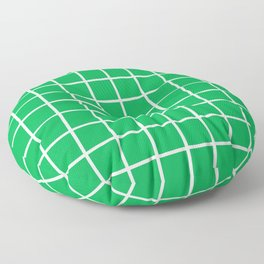 Green Grid Pattern 2 Floor Pillow