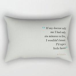Type a Little Faster Rectangular Pillow