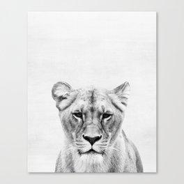 Lioness, Animal, Minimal, Trendy decor, Nursery, Interior, Wall art, Photo Canvas Print