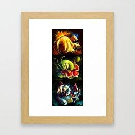 Gen 2 Final Evo [Full Collection] Framed Art Print