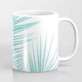 Soft Turquoise Palm Leaves Dream - Cali Summer Vibes #1 #tropical #decor #art #society6 Coffee Mug