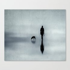 walking the dog Canvas Print