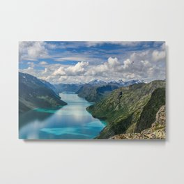 Winding lake Metal Print