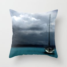 Stormy Sails Throw Pillow