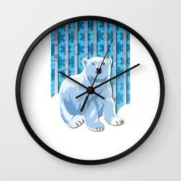 Lonely Canadian Polar Bear Wall Clock