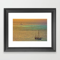 Sailing From the Sunset Framed Art Print