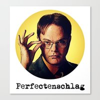 dwight schrute Canvas Prints featuring Perfectenschlag  |  Dwight Schrute by Silvio Ledbetter