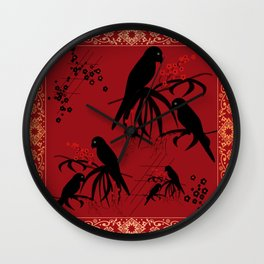 "A series of "" Favorite pillow ""Parrots 2 Wall Clock"