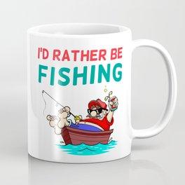 I'd Rather be Fishing Design Coffee Mug