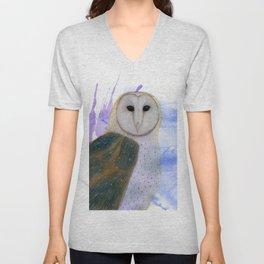 Majestic Barn Owl Unisex V-Neck