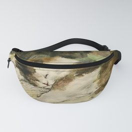 Vintage Sleepy Content Cats Fanny Pack