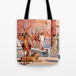 "Classical Masterpiece ""Egyptian Ramesses II Throne Room"" by Herbert Herget Tote Bag"