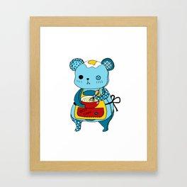 """Kookie"" The Bear Framed Art Print"