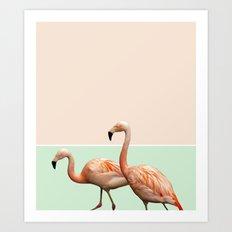 Flamingo Pastel Art #society6 #decor #fashion #buyart Art Print
