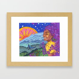 Day to Night Framed Art Print