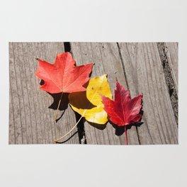Three Leaves Photography Print Rug