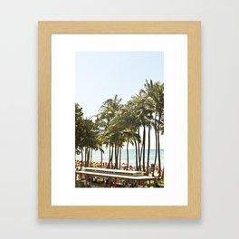 Waikiki, Oahu, Hawaii Framed Art Print