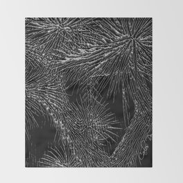 Joshua Tree Silver by CREYES Throw Blanket