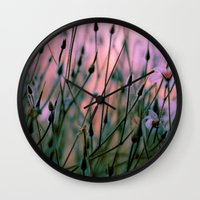 snatch Wall Clocks featuring Dawn  by The Dreamery