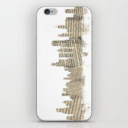 Chicago Illinois Skyline Sheet Music Cityscape iPhone Skin