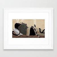 medusa Framed Art Prints featuring Medusa by Matthew Goik