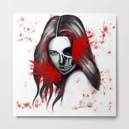 The half-demon half-angel woman V2 Metal Print