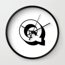 Letter Q ... As Easy As ... Wall Clock