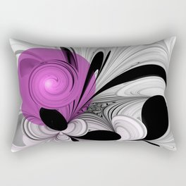 Abstract Black And White With Orchid Rectangular Pillow