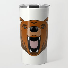 Geometric Bear - Abstract, Animal Design Travel Mug