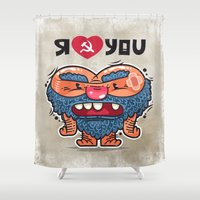 russian Shower Curtains featuring Russian Love by Voysla